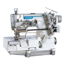 Flatbed Interlock Sewing Machine for Elastic Lace with Edge Trimming