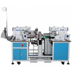 Automatic Elastic Joining Sewing Machine with Double Heads
