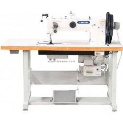 Double Needle Long Arm Triple Feed Walking Foot Heavy Duty Thick Thread Sewing Machine