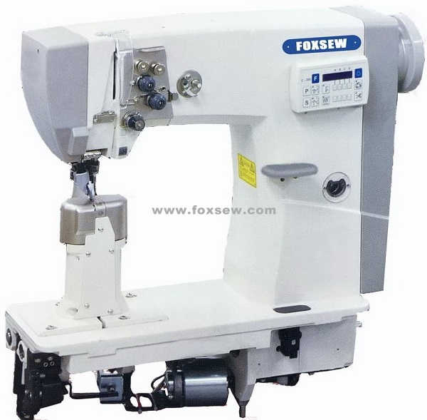 Double Needle Thick Thread Full Automatic Post Bed Lockstitch Sewing Machine