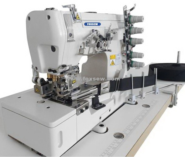Flatbed Tape Binder Interlock Sewing Machine with Pneumatic Rear Tape Cutter