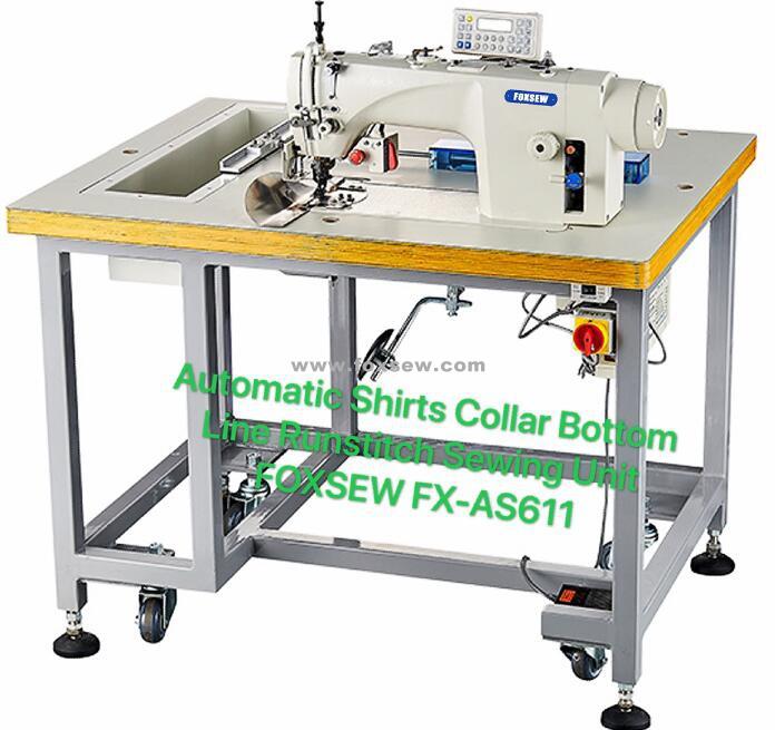 Automatic Shirt Collar Runstitch Sewing Unit