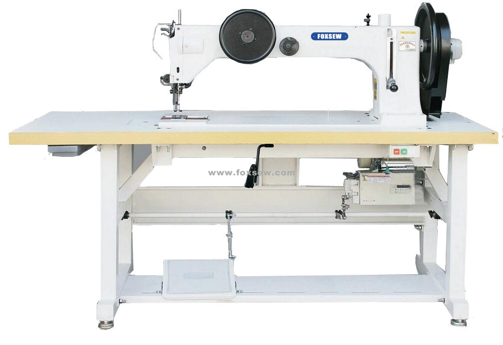 Long Arm Extra Heavy Duty Top and Bottom Feed Lockstitch Sewing Machine