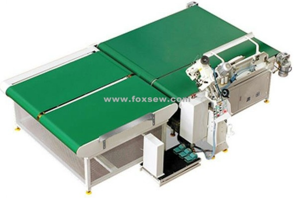 Auto-Flipping Mattress Tape Edge Machine