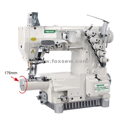 Small Cylinder Bed Three Needle Interlock Sewing Machine