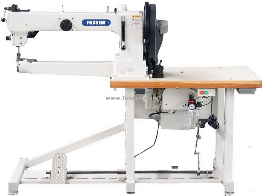 Long Arm Cylinder Bed Triple Feed Walking Foot Heavy Duty Lockstitch Sewing Machine