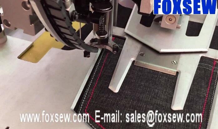 Automatic Jeans Pocket Pattern Sewing Machine