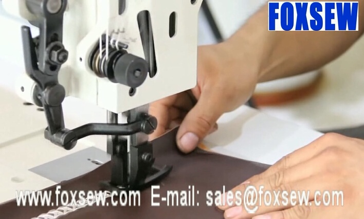 Two Needle Walking Foot Thick Thread Ornamental Stitching Machine for Decorative Seams on Upholstery Leather